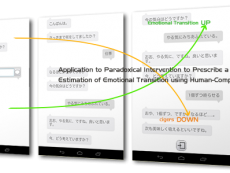 機械対話に基づく感情遷移推定と「症状処方」への応用を発表