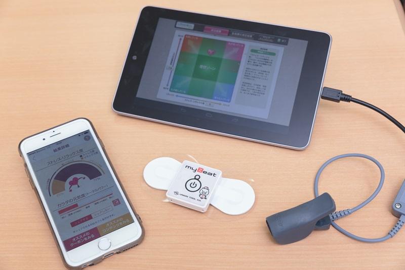 スマホやタブレット、センサーを使って心の状態を測定できる